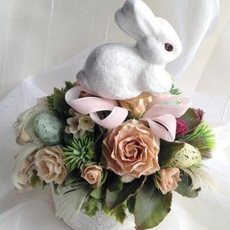 Пасхальный декор для праздничного стола Кролик
