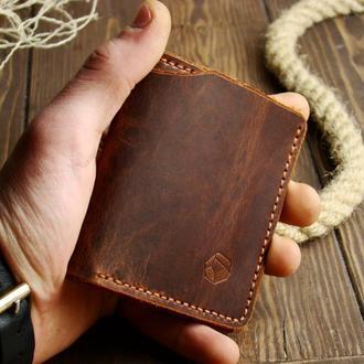 Компактный кошелек EDC из натуральной кожи