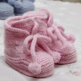 пинетки-ботиночки однотонные