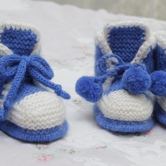 ботиночки-пинетки двухцветные