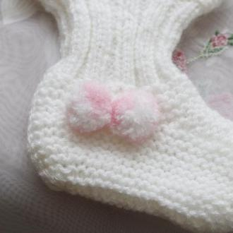 носочки на новорожденных, ручная вязка