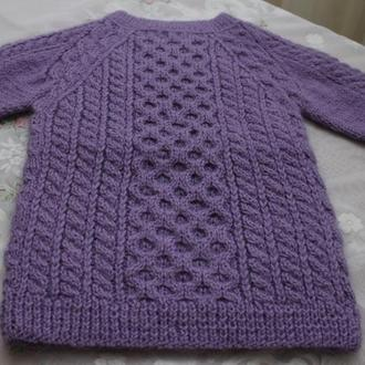 свитер на девочку ручная вязка