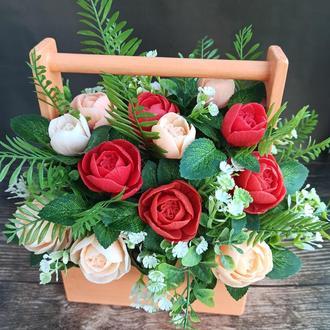 """Букет з мила  """"Міні-троянди"""""""