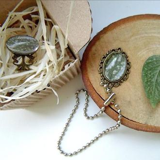 Комплект украшений кольцо и кулон