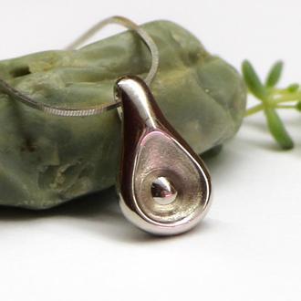 Серебряная подвеска Росинка, кулон без камней