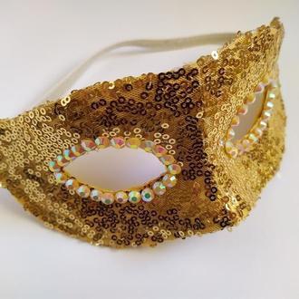 Карнавальна маска «GOLD»