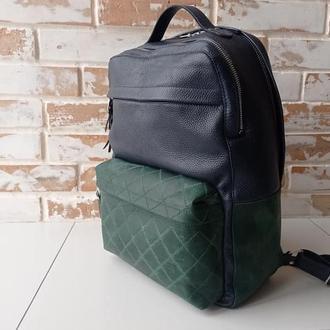 Стильный качественный кожаный рюкзак / бизнес рюкзак/ индивидуальный пошив