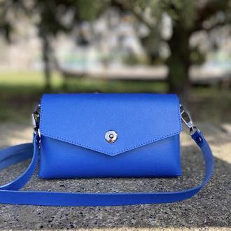 Сумка-клатч кожаная женская Candy (синяя)