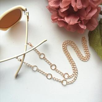 Цепочка для очков Rings розовое золото
