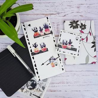Открытка  с кактусами. Открытка ко дню рождения. Поздравительная открытка