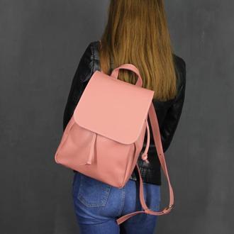 Кожаный рюкзак фиксируемый шнуром