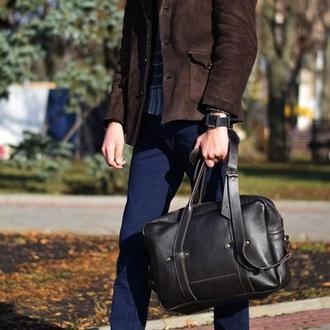 Мужская кожанаяя сумка-портфель через плечо