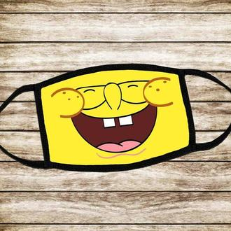Детская многоразовая маска Губка Боб