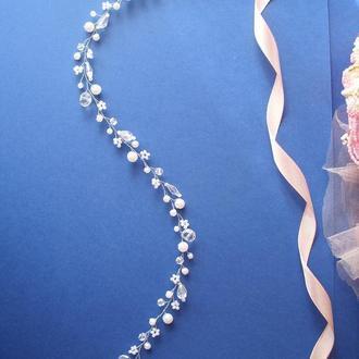 Весільна гілочка для волосся, весільна прикраса для нареченої, весільний гребінь для нареченої