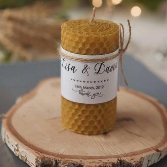 Свадебные ароматные свечи Подарки для гостей