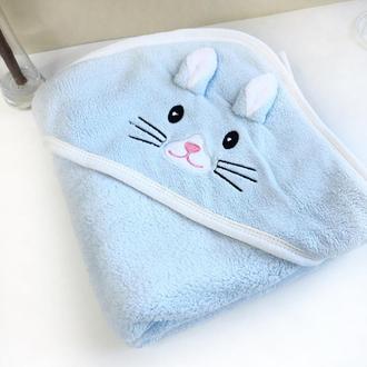 Полотенце уголок для купания. Детское полотенце