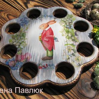 Подставка для Паски и яиц′Джентельмен′, пасхальный декор, для кулича, Пасха