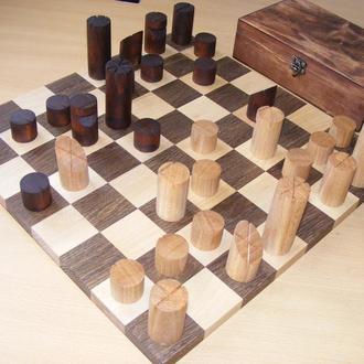 Авторский шахматный набор. Дерево. Абстрактные шахматы