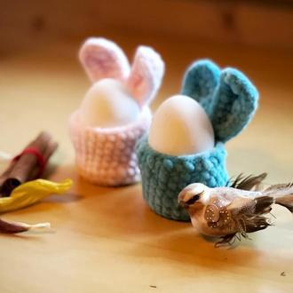 Пасхальная подставка для яиц  «зайчик»