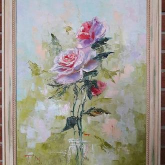 """Картина маслом """"Розы"""" 50х70"""