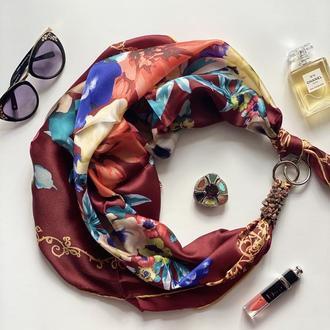 """Дизайнерский платок """" Королевский шедевр"""" от бренда my scarf, подарок женщине. Премиум коллекция!"""