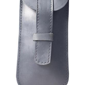 Кожаный чехол для очков. 02006/черный