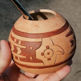 Уценка! калабас керамический с перуанскими соколами