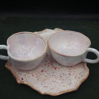 Керамический набор для кофе, чая. Авторская работа.