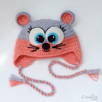 Шапка-зверушка Мышка