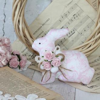 Інтер'єрний Великодній кролик рожевий