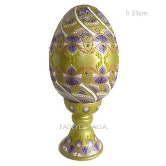 Пасхальное декоративное яйцо. Точечная роспись.