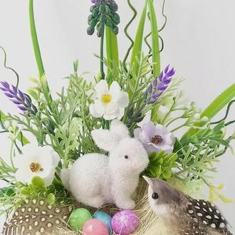Пасхальный кролик. Пасхальный декор.Подарок на Пасху.