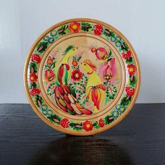 Тарелка расписная диаметр 22-26 см