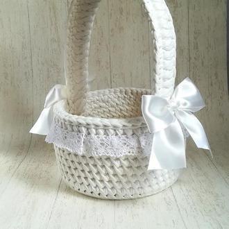Пасхальная корзинка из трикотажной пряжи