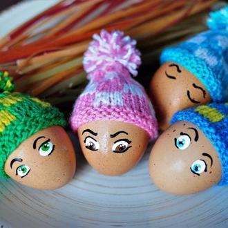 """Шапочки для пасхальных яиц """"С квадратиками"""""""