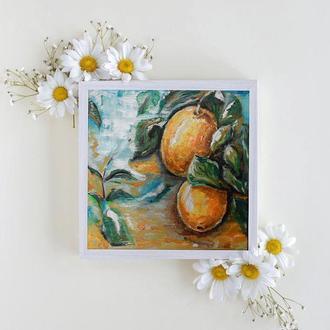 Картина маслом на полотні «Лимони »