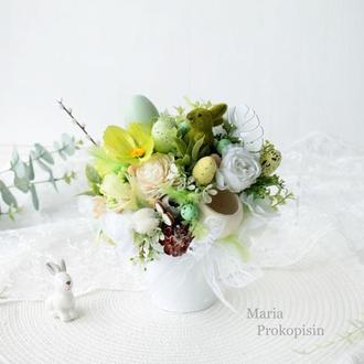 Пасхальная композиция / Композиция на стол / Весенняя композиция