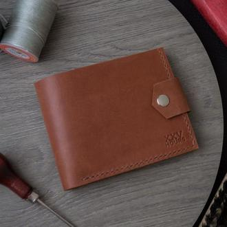 Кожаный кошелек (Коньяк) Pointer