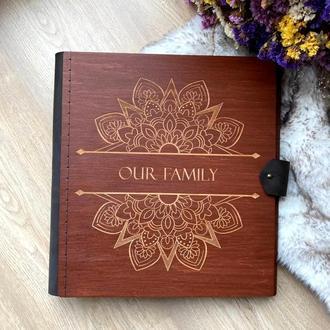 """Деревянный фотоальбом """"Family""""!  Подарок, свадебный фотоальбом"""