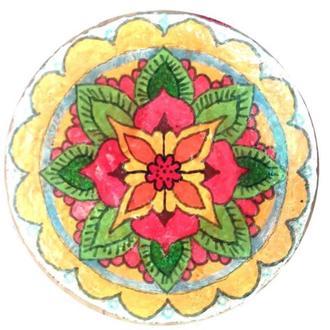 """Декоративная тарелка диаметром 30 см """"РОЗА""""  шамотной трипольской глины станет изысканным"""