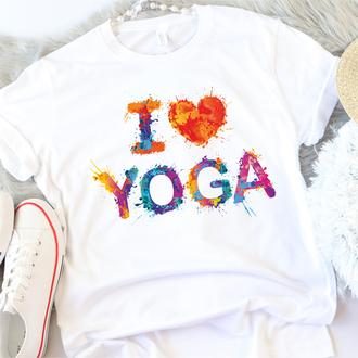 Женская футболка I love Yoga