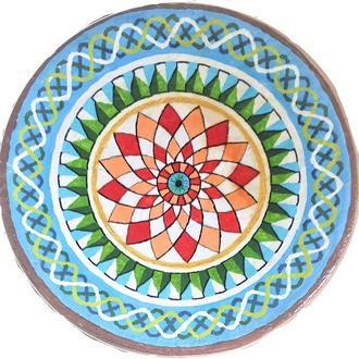 """Декоративная тарелка диаметром 40 см """"MARMARIS""""  шамотной триполской глины"""