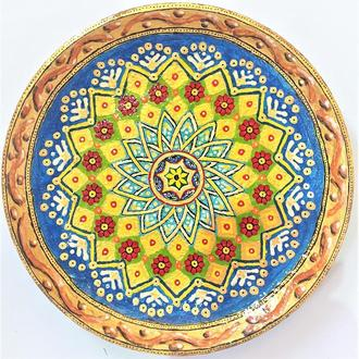Декоративная тарелка диаметром 42 см «Відродження» штучная  шамотной трипольской глины