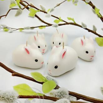 Свеча парафиновая Белый кролик