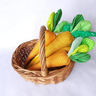 Набор пасхальных морковок, 3шт, 5шт, текстильная морковка, Пасхальный декор, подарки на Пасху