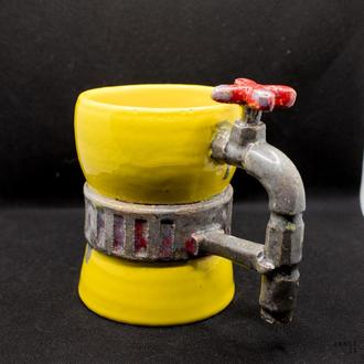 Чашка чайная керамическая большого размера авторский дизайн