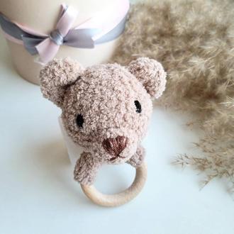 Плюшевый Мишка Тедди погремушка на кольце