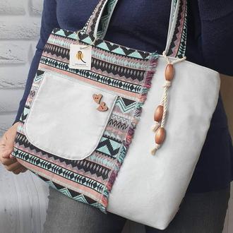 Сумка-шоппер в этно-стиле