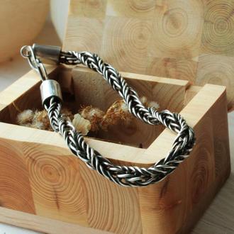 Серебряные браслет