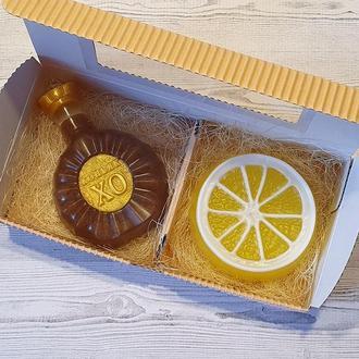 """Набор мыла  """"Коньяк и лимон"""" 2"""